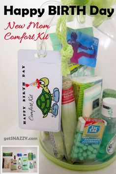 Gift for expecting mothers to take to hospital when they go into labor. Would make a great shower gift!