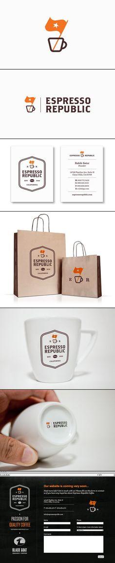 Espresso Republic | Salih Kucukaga Time for coffee #identity #packaging #branding PD