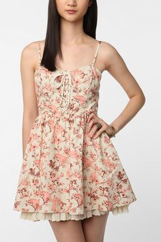 Betsey Johnson Lace-Up Tea Party Dress