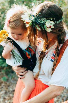 boho mother + child
