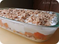Fresh Peach Dessert - No Bake!