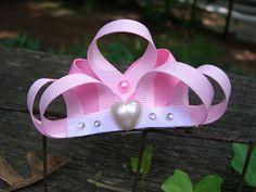 ribbon hair bow, ribbon hair clip, princess birthday, hair clips, princess crowns, princess hair, princess dresses, a little princess, hair bows