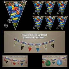 RIO 2 6 TRIANGLE PENNANTS