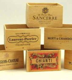 Assorted 6 Bottle Wooden Wine Boxes