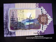 Tea bag folding, altered card