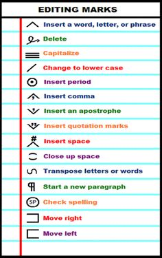 Spanish essay correction symbols in spanish