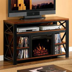 New Ideas For Electric Fireplaces On Pinterest Electric Fireplaces Fireplaces And Media Consoles
