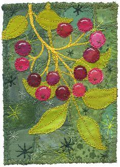 Berries 2 by Kirsten's Fabric Art, via Flickr