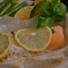 "Parchment Baked Salmon | ""Simple, moist and delicious - perfect for any diet!"""