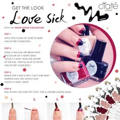 Get the #Ciate Love Sick look with the Haute House Collection. #Nailart #Nails #Beauty