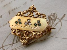 Antique French 18K yellow solid gold  diamond by PARISOUIPARIS, $570.00