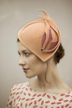 Felt Cocktail Hat By MAGGIE MOWBRAY #millinery #hats #HatAcademy