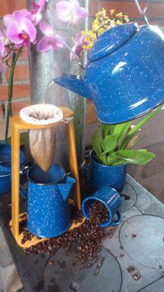 dripping bag for coffee: bolsa de chorrear café
