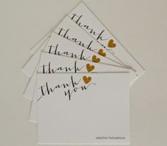 @kthomp2292 writes her thank you's on personalized thank you cards.