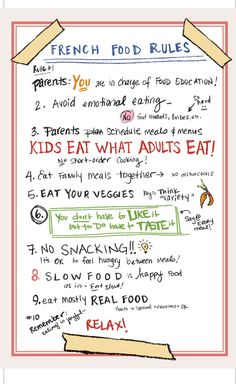 French Food Rules. I like these rules.