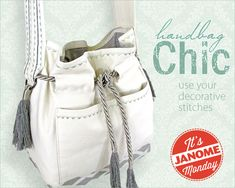 Janome Monday: Belted Cross-Body Bag with Decorative Stitching   Sew4Home
