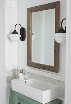 Awesome DIY half bathroom makeover
