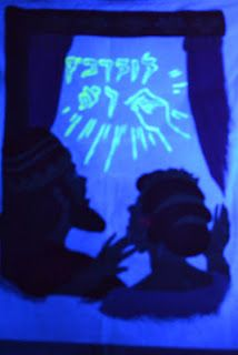 Bible Class Creations: Blacklight  The writing on the wall (see writing with blacklight)