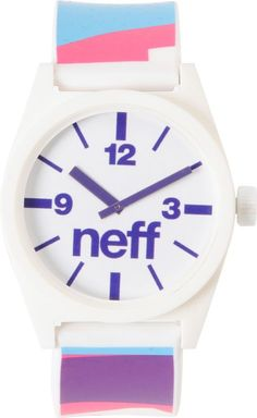 This Neff Daily White, Pink and Blue Watch is a Zumiez Exclusive! magnificant http://www.shop.com/sophjazzmedia/hJewelry-~~blue+watches-internalsearch+260.xhtml