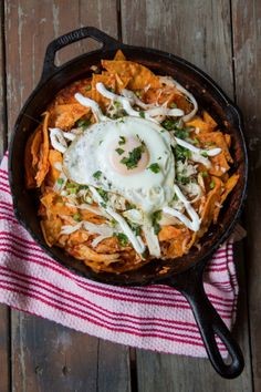 Chilaquiles made from leftover enchiladas!