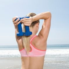 Q: How do I get rid of arm flab? (i.e. batwings or that little bit of extra fat that hangs on the back of my arms?)A: You might be surprised to hear that your workout routine probably isn't the