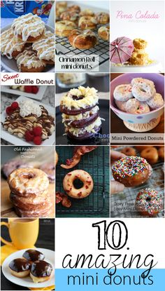 10 AMAZING Homemade Donut Recipes - Gotta check this out!  YUMMY!