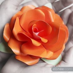 paper roses, craft, orang, printable templates, color, rose templat, paper flowers, papers, flower tutorial