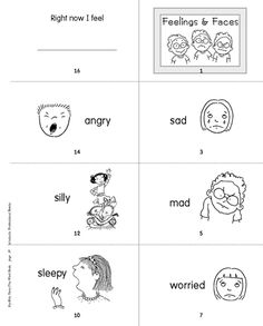 Printable minibook: Feelings and Faces