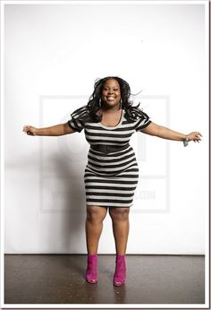 Amber Riley gets it in with stripes!!!