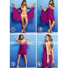 Novelty Design Women's One-Piece Bikini Cover Gown Beach Dress