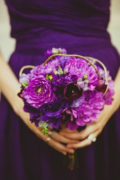 Pretty purple bouquet.