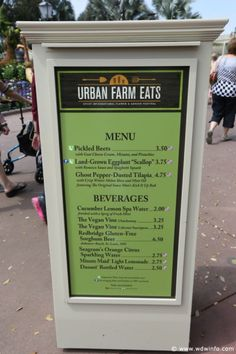 Urban Farm Eats Menu