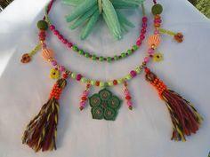 SALE GYPSY'S WEDDING Necklace Bohemian Necklace Tribalk by Nezihe1, $62.00