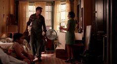 """Nick the handyman, in Peggy's apartment: """"You got a lot of books."""" Mad Men Season 7 Episode 7, """"Waterloo"""" http://www.nypl.org/blog/2012/02/27/mad-men-reading-list"""