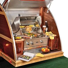 Cooking up some fun is easy with this Viking® grill (included in our Ultimate Tailgater Sweepstakes)! Enter today for a chance to win our one-of-a-kind, hand-crafted, teardrop trailer! http://bit.ly/TBTailgate #NFL #tailgate #TommyBahama