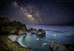 Milky way to Mc Way Falls by Sapna Reddy state parks, big sur, california, star, natur, beauti, places, milki, milky way