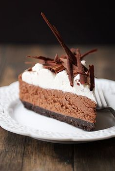 From Lovers with Love - 10 To-Good-To-Be-True Healthy Chocolate Dessert Recipes-French Silk Pie