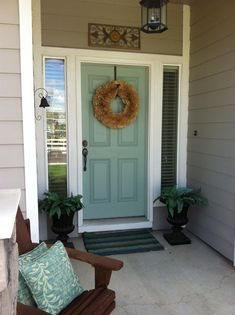 Benjamin Moore - Wythe Blue, for the front door. I love this!