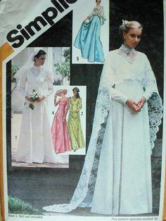vintage Simplicity wedding dress pattern