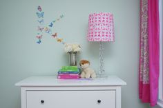 Royal Design Studio Kinetic Floral Furniture Stencil Pattern on Pink Lamp Shade DIY