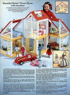I had this version--the 1980 Barbie Dream House.  Loved all of the refrigerator contents!