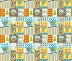 What the Hoot Patchwork fabric by maybe a nursing blanket???