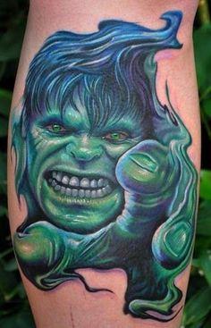 #6 The Incredible Hulk - Top 15 Superhero Tattoos: http://www.tattoos.net/articles/tattoos/top-superhero-and-comic-book-tattoos/