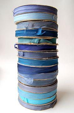 Blue ribbon stack