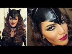 Halloween Makeup: Cat Woman! not in English but she shows how she does it quiet well that you don't need English to understand.