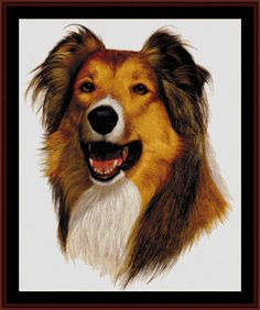 Rough Collie - Cross Stitch Collectibles fine art counted cross stitch pattern