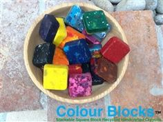 Handcrafted Crayons by ColourBlocks on Etsy, $14.00