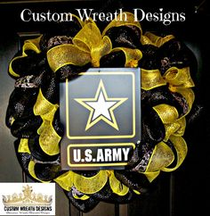 Army Deco Mesh Camo Wreath by lilmaddydesigns on Etsy, $85.00