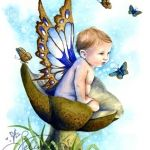 Little Boy Blue ~cute boy butterfly tattoo idea ~ use a baby picture of your son for this one