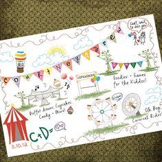 carnival wedding map aerin, maps, carnival wedding, carnivals, pretti idea, entertain idea, wedding dreams, circus invit, dream car
